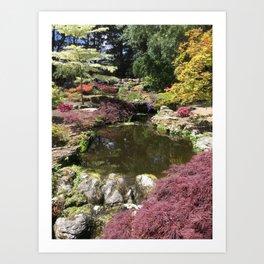 Japanese Garden in Jersey Art Print