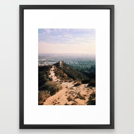 Runyon Canyon and Hollywood. Framed Art Print