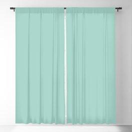 Pastel Aquamarine Blue Green Solid Color Parable to Simple Seafoam 5008-7C by Valspar Blackout Curtain