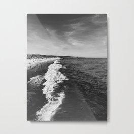 Newport Beach Waves 1 Metal Print