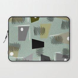 Mid-Century Modern Green Abstract Laptop Sleeve