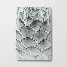 Aloe Vera Abstract Metal Print