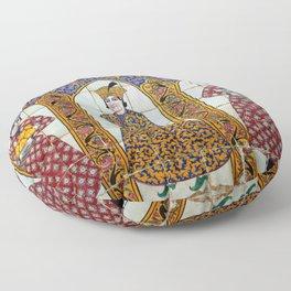 Persian Noblemen Mosaic Qavam House Facade, Shiraz, Iran Floor Pillow