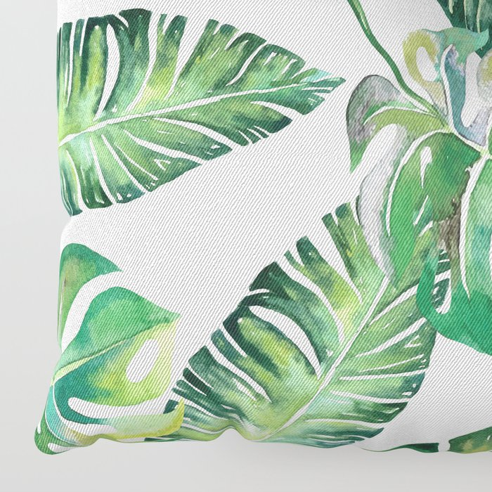 Jungle Leaves, Banana, Monstera #society6 Floor Pillow
