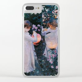 Carnation, Lily, Lily, Rose - John Singer Sargent Clear iPhone Case
