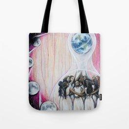 Sister Circle // Women Feminism Feminist Sisterhood Goddess Earth Moon Unity Peace Love Power Energy Tote Bag