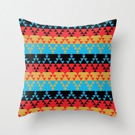 Southwest Stripes in Sunset Rainbow Throw Pillow