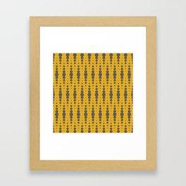 Yellow Blobby Squibbles Framed Art Print