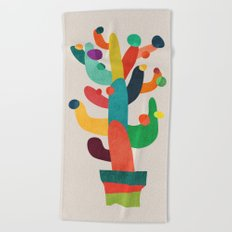 Whimsical Cactus Beach Towel