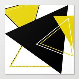 Triangular Mess Canvas Print