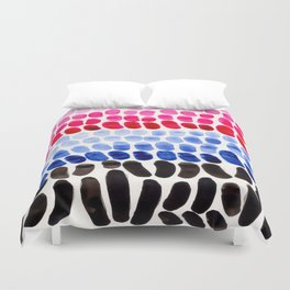 Blue And Magenta Complementary Color Palette Natural Patterns Colorful Watercolor Abstract Art Mid C Duvet Cover