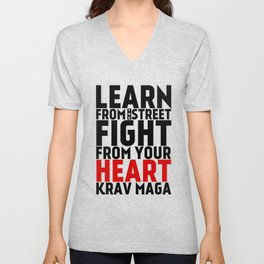 Learn from the Street Krav Maga Unisex V-Neck