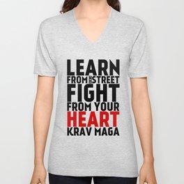 Learn from the Street Krav Maga Unisex V-Neck