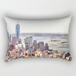 New York, panoramic view, USA Rectangular Pillow