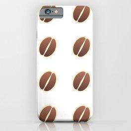 Tasty coffee seamless pattern iPhone Case