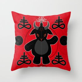 Baphomet Teddy Throw Pillow