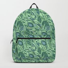 Marine Feather Pattern Ornament Backpack