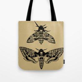 Antique Deaths Head Hawk Moth Pointillism Tote Bag