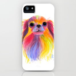 Nosey Dog Chihuahua ' TiLLY ToTS ' by Shirley MacArthur iPhone Case