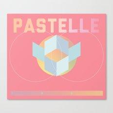 PASTELLE VIBES Canvas Print