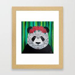 Panda muerte Framed Art Print