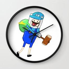 Mario + Finn Crossover Wall Clock