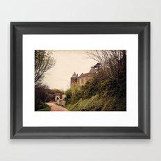 Brancion - French Medieval Chateau Framed Art Print