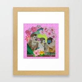 wise monkeys 3.0 Framed Art Print