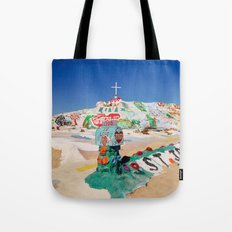 The colorful mountain Tote Bag
