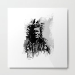 Classic Native Indian Chief Metal Print