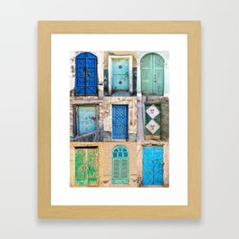 Nine Saudi Doors  Framed Art Print