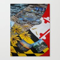 maryland Canvas Prints featuring Maryland by Demetra Smalls