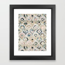 Art Deco Marble Tiles in Soft Pastels Framed Art Print