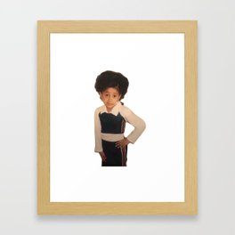 Yound Cardi B Meme Framed Art Print