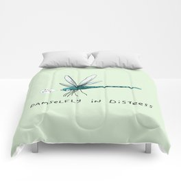 Damselfly in Distress Comforters