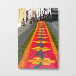 Making flower carpets Metal Print