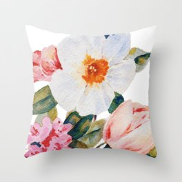 Loose Spring Bouquet Throw Pillow