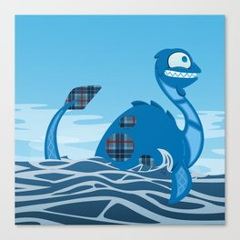 Silly Bestiary: Nessie! Canvas Print