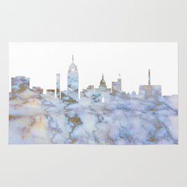 Lansing Skyline Michigan Rug