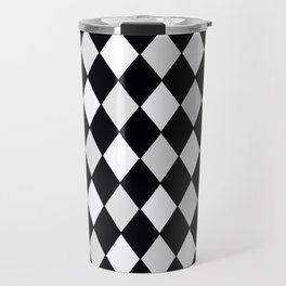 Harlequin Black and White and Gray Travel Mug