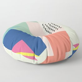 Shapes and Waves Floor Pillow
