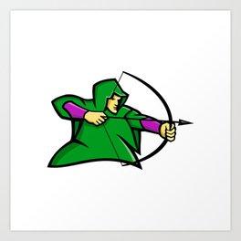 Medieval Archer Mascot Art Print