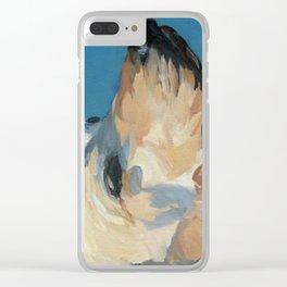 Mandy the Golden Labrador Clear iPhone Case