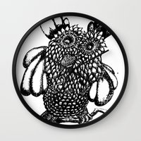 the who Wall Clocks featuring Who? by Yeshead