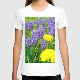 Field of Flowers, Dandelions and Bluebonnets T-shirt