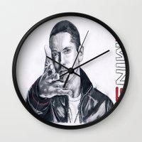 rap Wall Clocks featuring Rap God! by DrewzDesignz