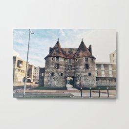 Dieppe Town Gate Towers Metal Print