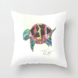 Mosaic Turtle Throw Pillow