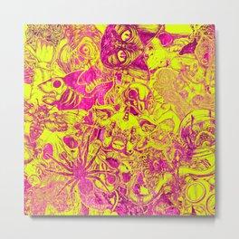 Pink Stickers Metal Print