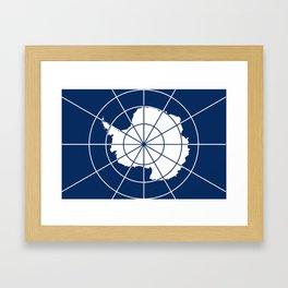 Flag of Antarctica Framed Art Print